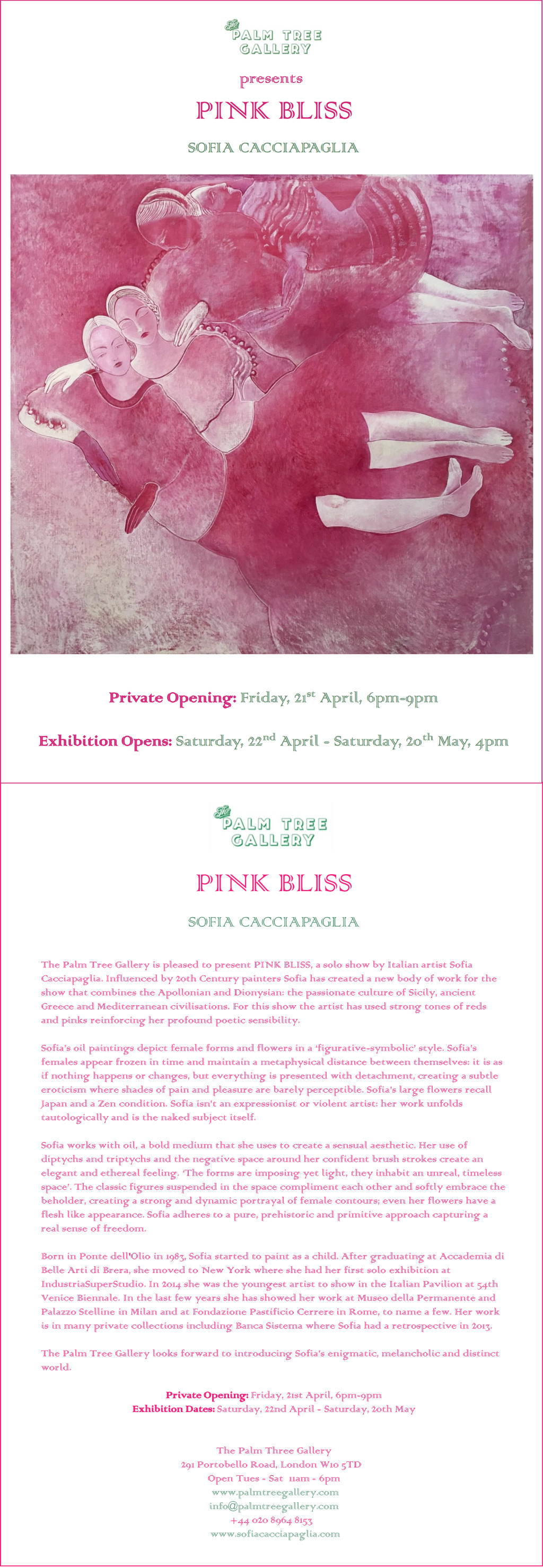 Pink Bliss Press release